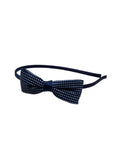 Evogirl Evogirl Head Bands Princess Bow Cotton Soft Fabric Dimond Print Hair Band for Casual, Navy/rb1163