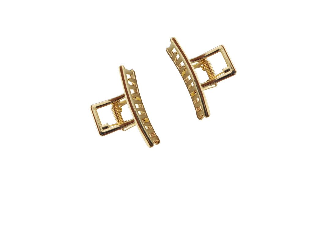 EVOGIRL High Quality Gold Metal Slim Shape Hollow Jaw Clips Hair Accessories Gold  Large Claw Clip