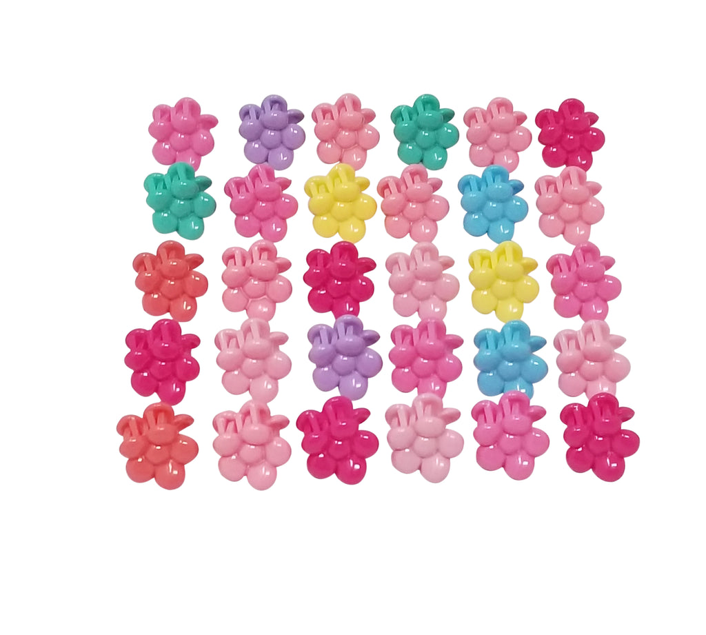 Evogirl Evogirl Cute Flower Claws Glossy, Multicolored Kids Hair Claw Clips/rb923
