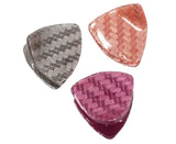 Evogirl Evogirl Medium Claw Clips Triangle Grip Spring Shades Pack of 3/rb535