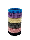 Evogirl Evogirl Rubberbands Thick & Sturdy No Tangle Soft Hair Ties Light Shade Multicolored,  (Pack of 10)/rb1094