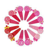 Evogirl Evogirl Cute & Funky Lollypop with Bow Image Printed Glossy  Kids Snap Hair Clips, For Kids/Girls/rb867