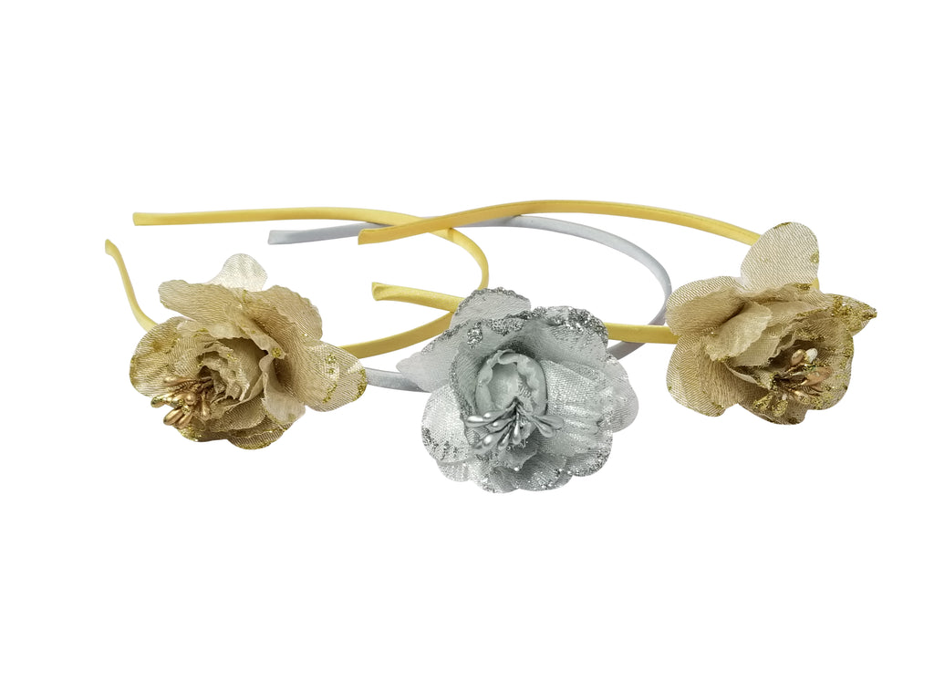 Evogirl Evogirl Mogra Flower Partywear Head Band Golden, Silver, Med, for Women/rb1535