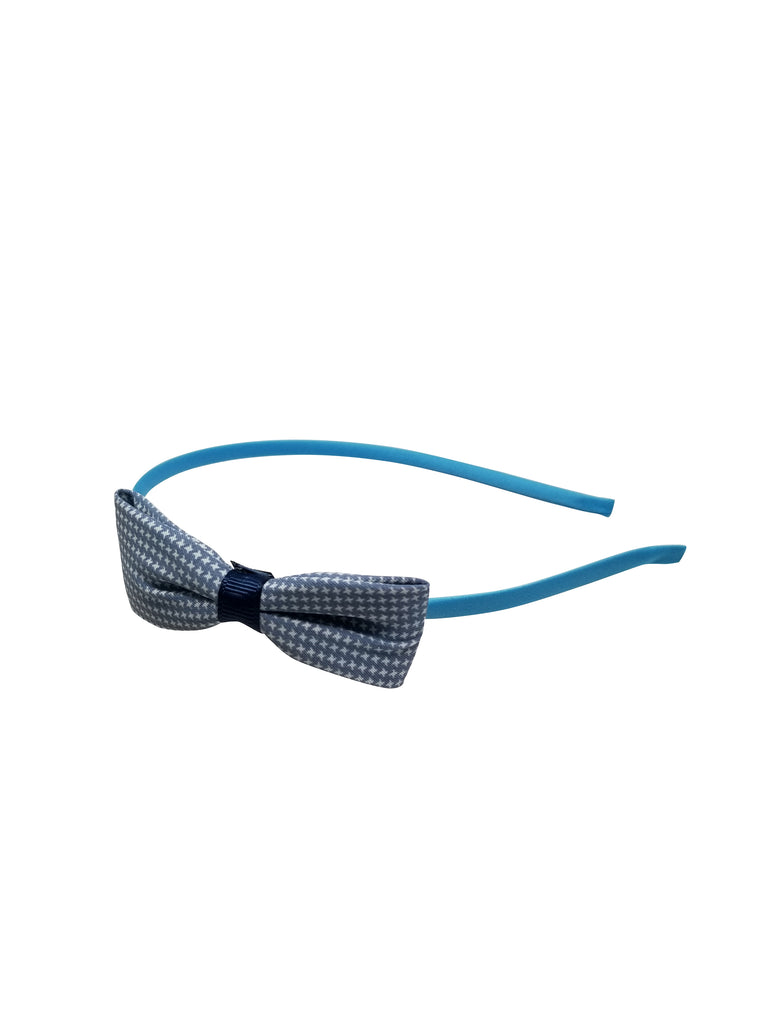 Evogirl Evogirl Head Bands Princess Bow Cotton Soft Fabric Dimond Print Hair Band for Casual, Blue/rb1166