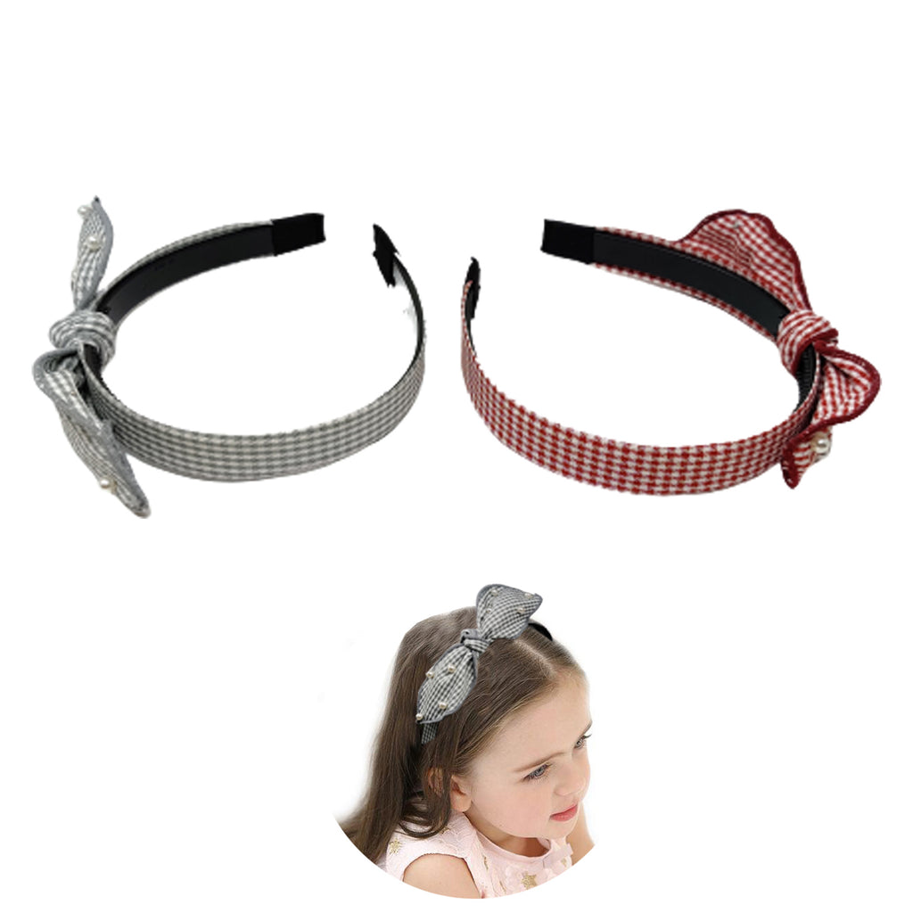 Evogirl Head Bands Lining Big Bow Fabric Hair BandSky Blue. Black,Large, for Women/Girls