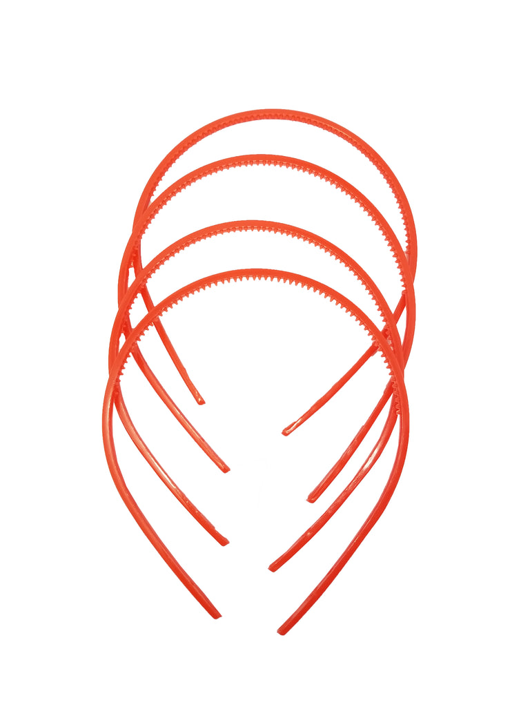 Evogirl Evogirl Headband Schooltime Unbreakable Hairband0.4cm Thick Red, XS/School Use (Pack of 3)/rb1813