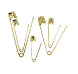 Evogirl Evogirl Safety Pin 5 Pack Different Sizes Gold Plated Metal Saree Pin Lock Pin Golden(Pack of 60)/rb1859