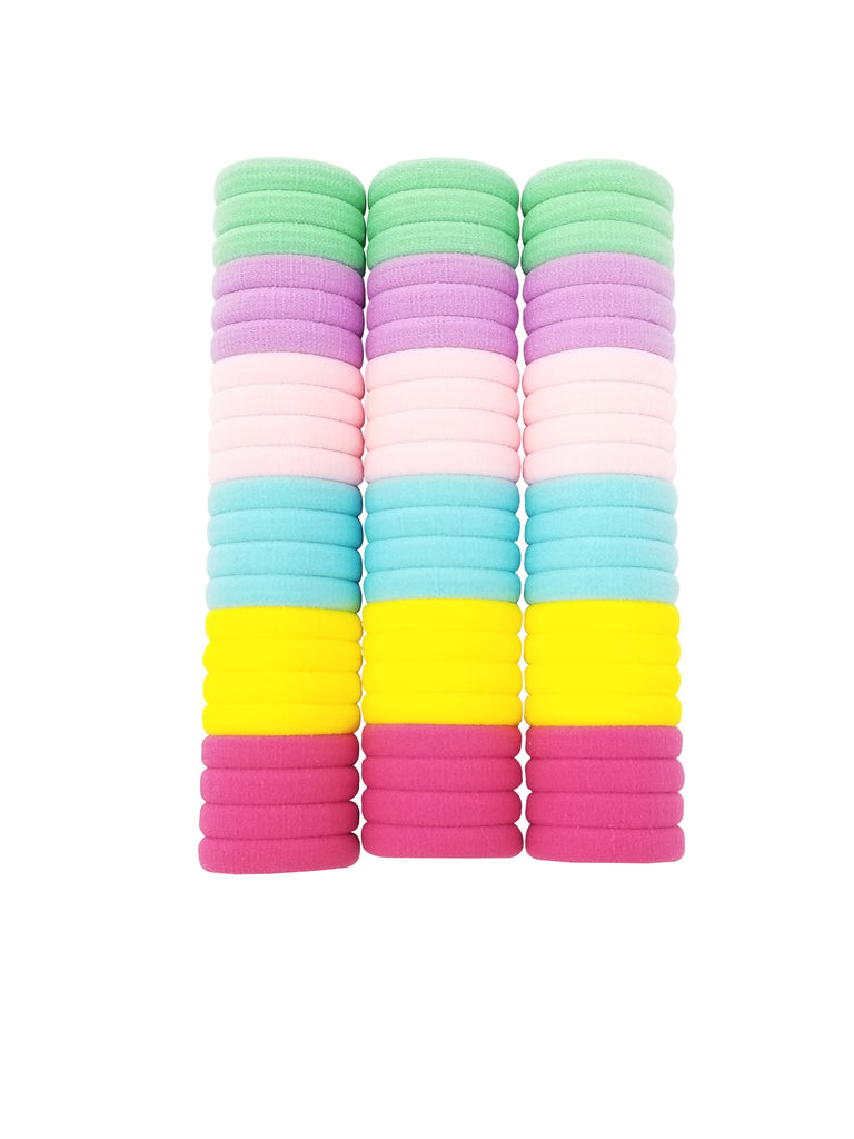 Evogirl Evogirl Rubberbands Schooltime Hair Ties Elastic Big PackLight Shade Multicolored, XS (Pack of 66)/rb1012