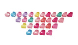 Evogirl Evogirl Cute Tiny Heart Claws Glossy, Multicolored Kids Hair Claw Clips/rb926
