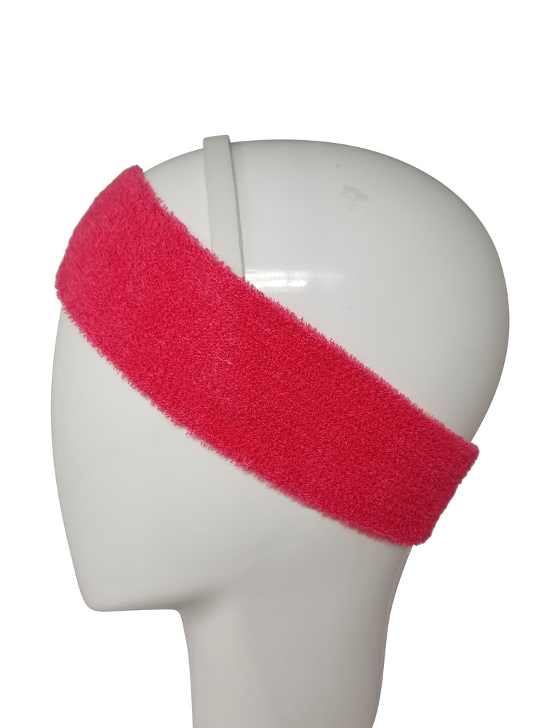 Evogirl Evogirl Headbands Sweat Absorbing Microfiber Strechy for Yoga, Sports, Gym Fitness Dark Pink/rb1123