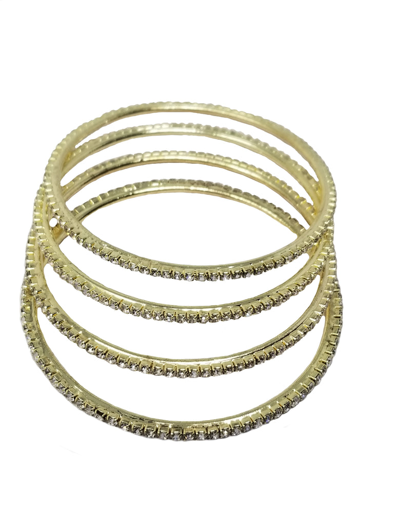 Evogirl Evogirl Bangles Golden Dimond Elegant Collection Dimond Gold(2 * 6),(Pack of 4)/rb1980