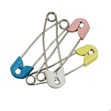 Evogirl Evogirl Safety Pin Metal Saree Pin Plastic Lock Pin 4.5cm Matte Multicolored, Med (Pack of 4)/rb1878