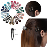 Evogirl Tic Tac Clips Everyday Wear Pestal Colors Metal Snap Hair Clips 6cm Barrettes Multicolored