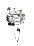 Evogirl Evogirl Safety Pin Metal Saree Ball Pin Lock Pin 3.5cm Silver, Med, for Women/Girls (Pack of 12)/rb1868