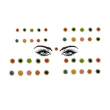 Evogirl Bindi Golden Shimmer Border Elegant Look Designer Mix Match with any Outfit Multicolored, sml, Med, For Traditional Wear/Women (Pack Of 40)