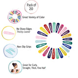 Evogirl Colourful Plastic Triangular Glossy Finish Tic Tac Pins for Women - Pack of 24