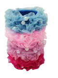 Evogirl Evogirl Rubberbands Schooltime Dailyuse Frill with Pearl Light Shade Multicolored Med Size for Kids/rb1567