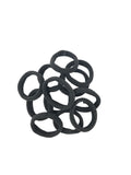 Evogirl Evogirl Rubber Bands Elastic No Metal Everyday Wear Hair Bands Black, Small, for Women/Girls/rb1312
