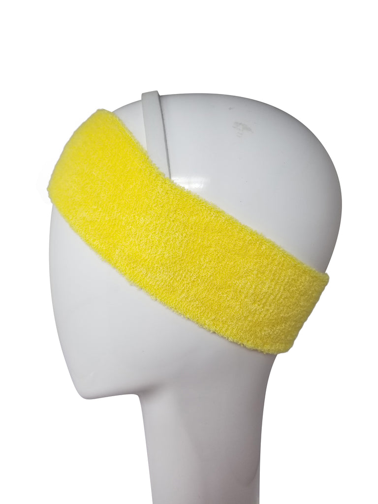 Evogirl Evogirl Headbands Sweat Absorbing Microfiber Strechy Hair Bands for Yoga, Sports, Gym Fitness Yellow/rb1122