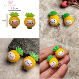 Evogirl Pinaple Clip Earing No Hole Earings Without Piercing Resin Ear Cuff EarringjewelaryYellow,Small, For Children/Girls