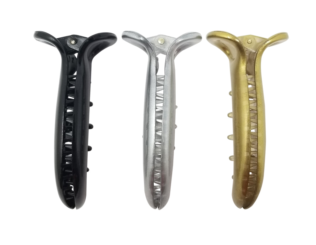 Evogirl Evogirl Claw Clip Dolphin Basic jaw Clip No Slip Grip Black, Silver, Golden/rb1387