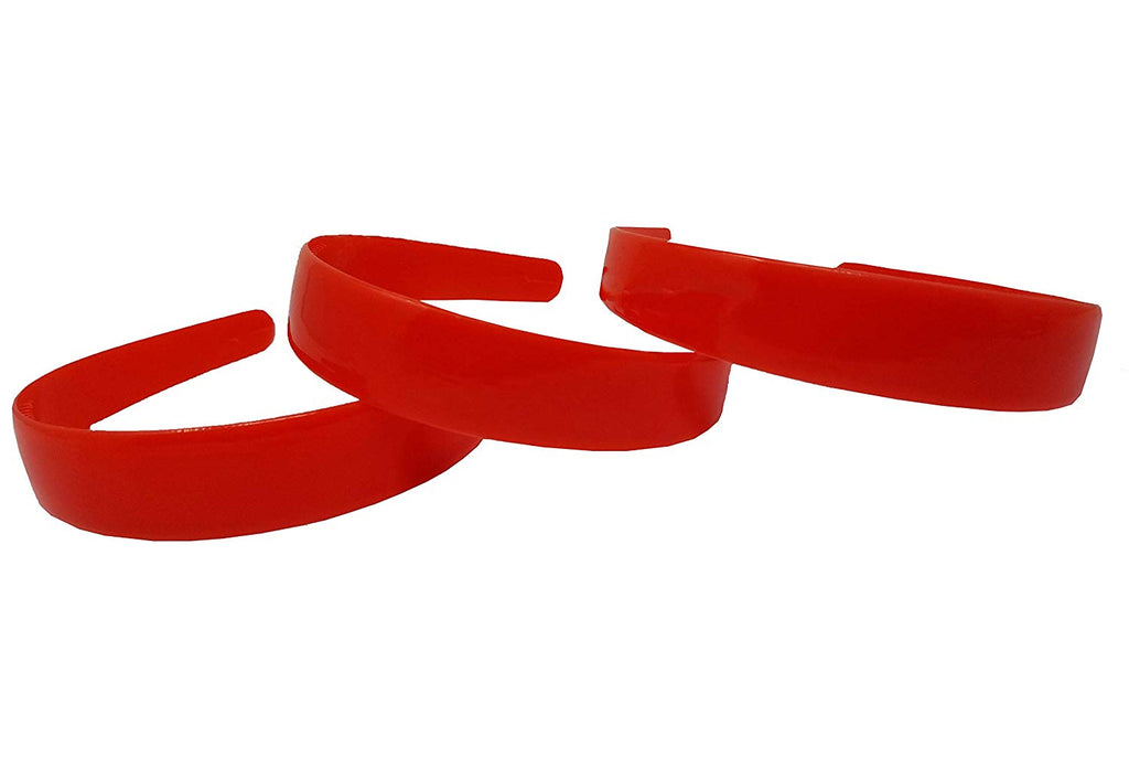 Evogirl Evogirl Headband Schooltime Unbreakable Hairband1.7cm Thick Red, Med/School Use (Pack of 3)/rb1811