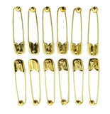 Evogirl Evogirl Safety Pin Gold Plated Metal Saree Ball Pin Lock Pin 5cm Golden, XL (Pack of 12)/rb1866