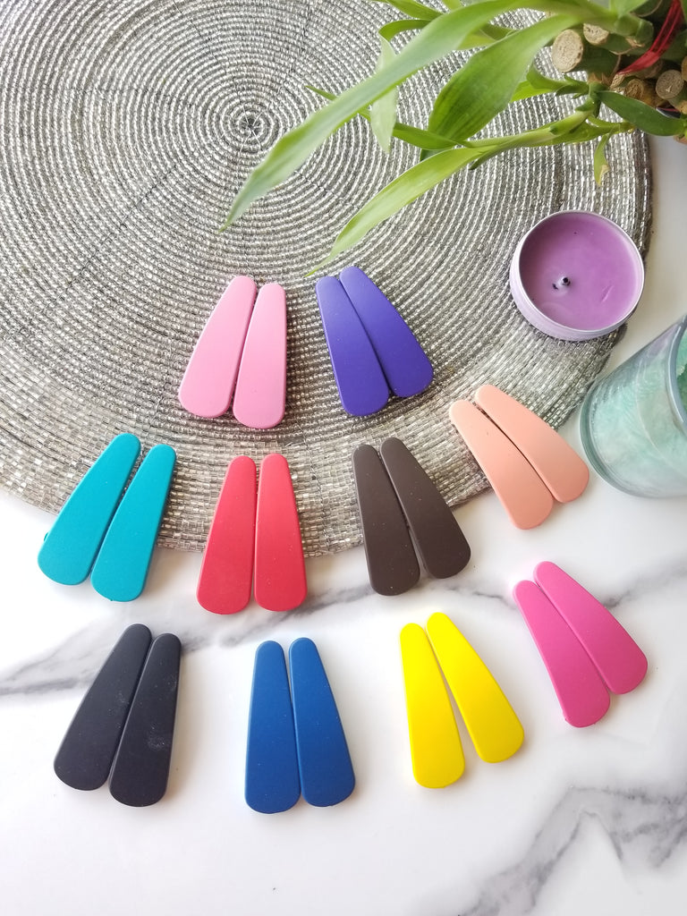 EVOGIRL Multicolour Metal Tic Tac Matte Blissful Snap Hair Clips for Women (Pack of 20)