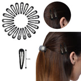 Evogirl Tic Tac Clips Everyday Wear Glossy Black Metal Snap Hair Clips 6cm Barrettes Black