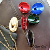 Evogirl Claw Clip Oval Shape No Slip Grip Basic Multicolored