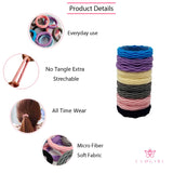 Evogirl Rubberbands Thick & Sturdy No Tangle Soft Hair Ties Light Shade Multicolored,  (Pack of 10)