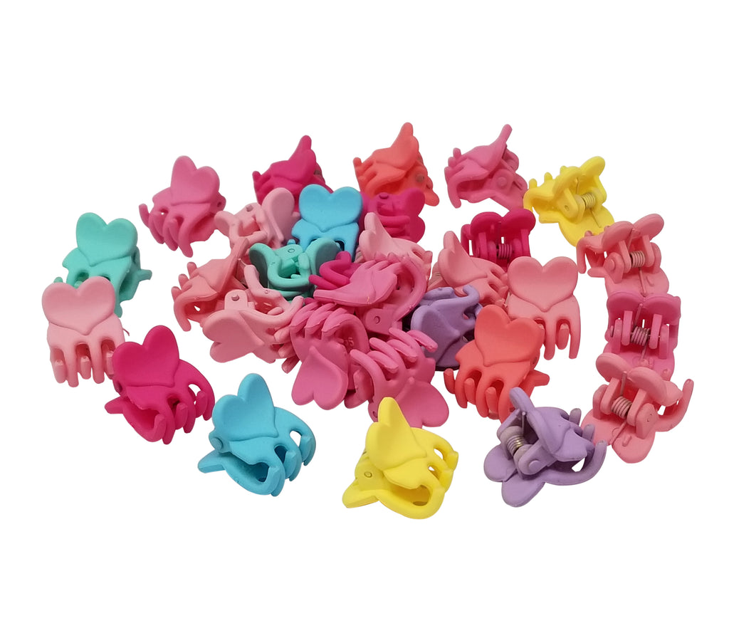 Evogirl Evogirl Cute Tiny Hearts Claws, Multicolored Kids Hair Claw Clips/rb922