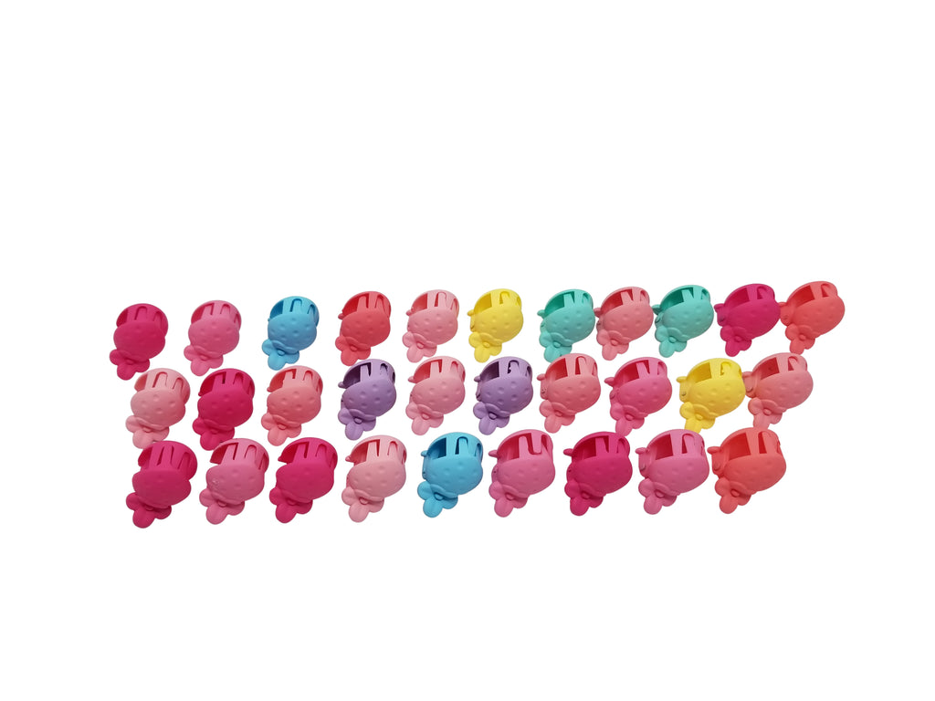 Evogirl Evogirl Cute Tiny Strawberry Claws Matte, Multicolored Kids Hair Claw Clips/rb921
