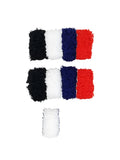 Evogirl Evogirl  Thick Rubberbands CottonThread, ExtraSoft Bun,Ponytail Holders Multicolored Pair Pack of 12/rb643