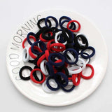 Evogirl Rubberbands Schooltime Hair Ties Elastic Big PackBlack,Blue, Red, White, XS (Pack of 66)
