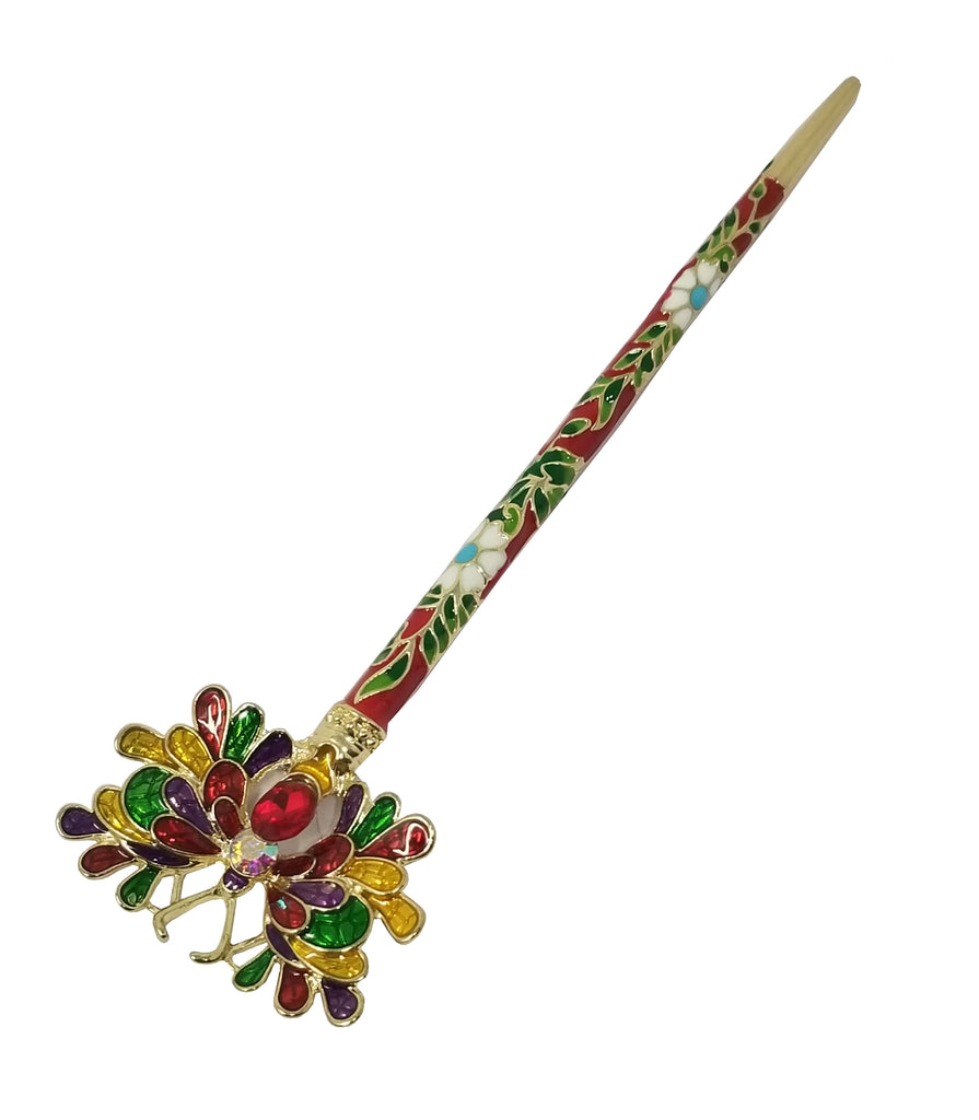 Evogirl Evogirl Juda Stick Butterfly Brotch with Unique Self Designed Paint Handmade Red, Med, for Women/rb1623new