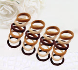 Evogirl Rubberband Schooltime Dailyuse Soft & Smooth Fabric Cotton Stretch Hair Ties No Metal Brown,Skin, Beige,Medium 5 cm , For Women / Girls