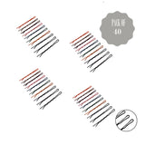Evogirl Bobby Pins Wavy Zigzag Grip, Salon Use, Hair Style Tools Slider Pins, Barrattes 5.7cm,Small