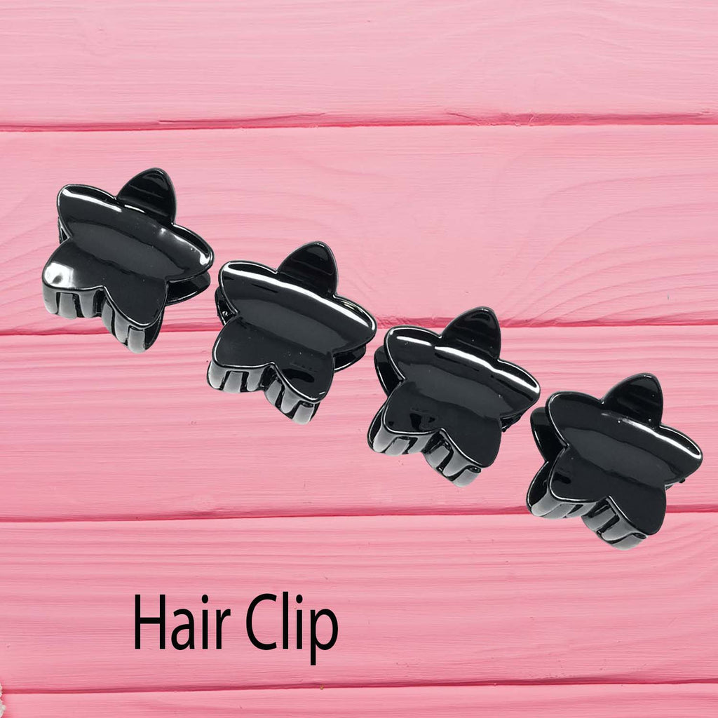 Evogirl Claw Clip Star Shape Grip Everyday Wear Hair Clip Butterfly Glossy Black, Small,for Women