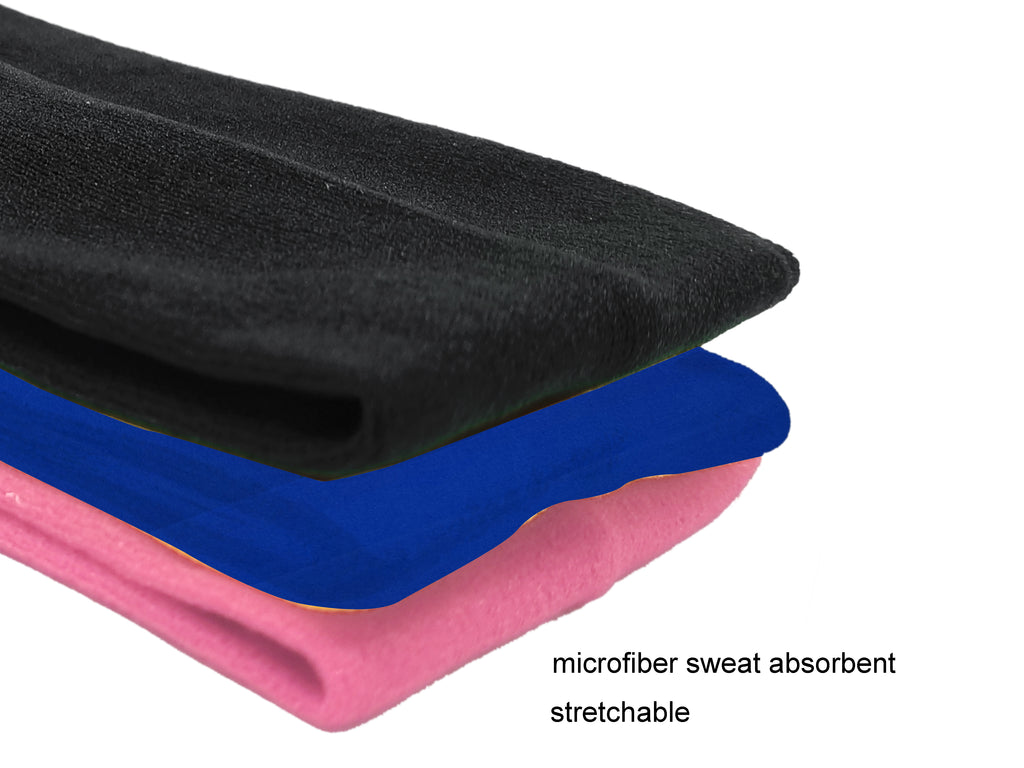 Evogirl Evogirl Headband Cotton Elastic Stretchable for Yoga, Sports, DanceBlue Black Pink (Pack of 3)/rb2049