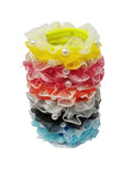 Evogirl Evogirl Rubberbands Schooltime Dailyuse Frill with Pearl Dark Shade Multicolored Med Size for Kids/rb1568