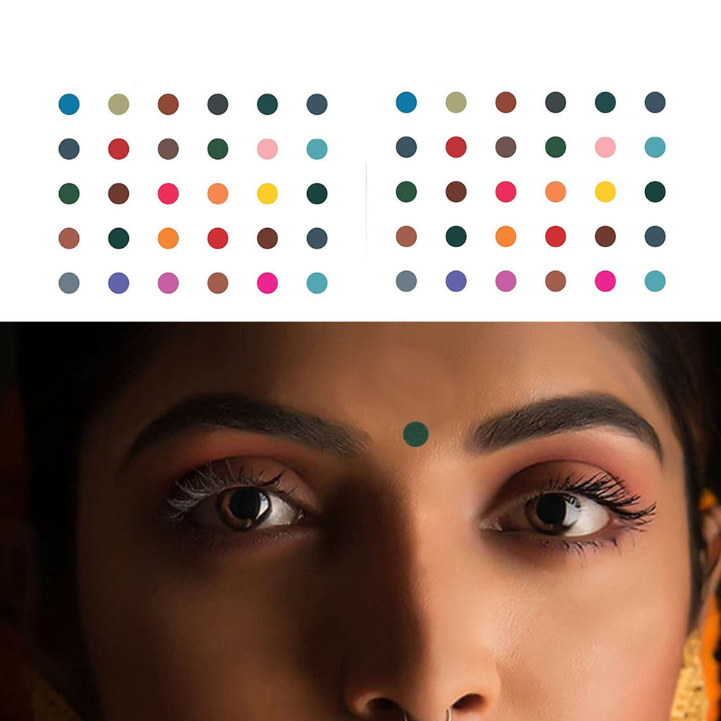 Evogirl Bindi Plain Evergreen Mix & Match Playfull Multicolored, Small Size-5, For Traditional Wear/Women (Pack Of 120)