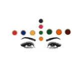 Evogirl Bindi Value Combo Pack of 3 Sizes Dimond Border Evergreen Mix & Match with any Outfit Multicolored, small,med,large, For Traditional Wear/Women (Pack Of 10)