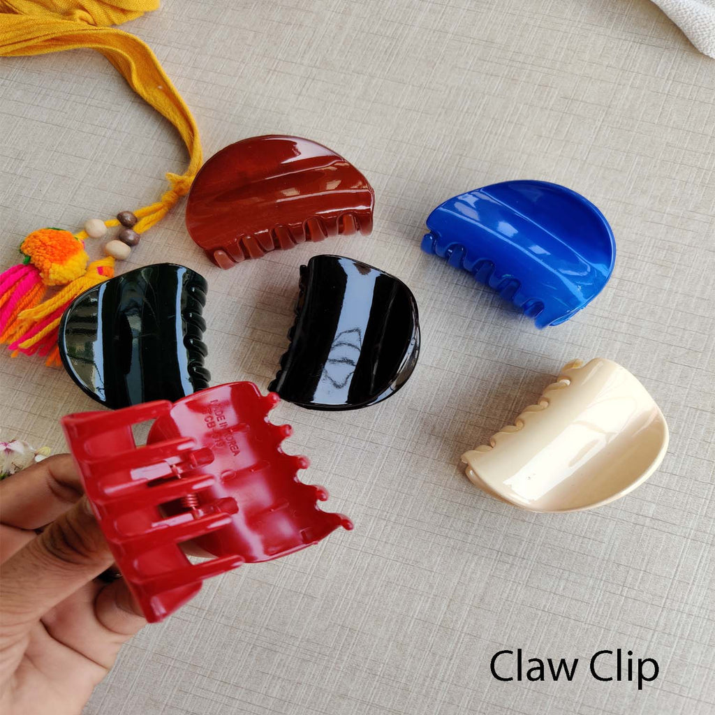 Evogirl Claw Clip Half Circle No Slip Grip Basic Multicolored