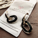 Evogirl Earrings Oval Drop Contemporary Fashion Jewellery Party wear Multi-Colour ,Med, For Women/Girls  /rb2261