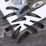Evogirl Black Metal Tic Tac Hair Clips for Women & Girls