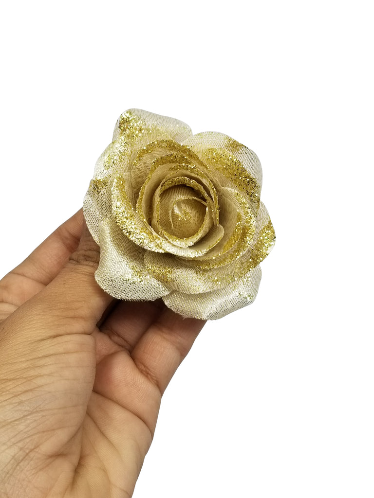 Evogirl Evogirl Hair Pin Rose Flower Accessories Salon Decoration Slide Clip Golden, Silver Med Size/rb1532