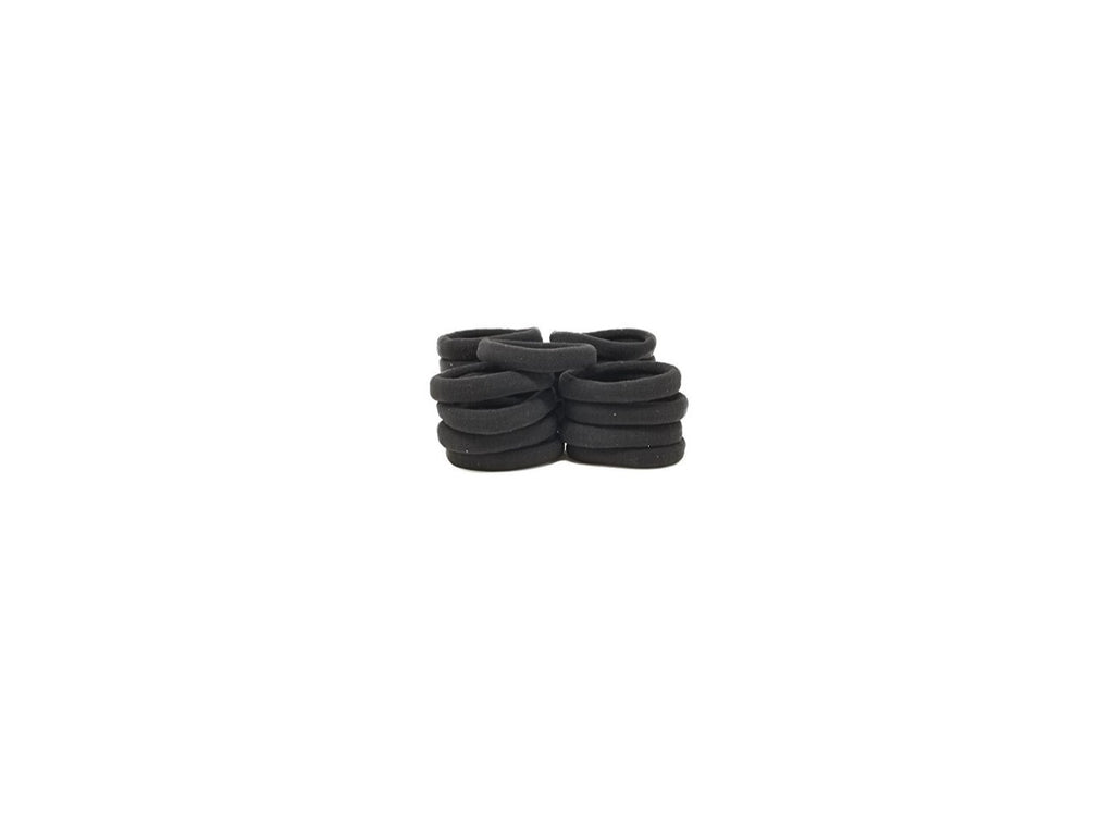 Evogirl Evogirl Black hair ponytail holder elastic rubberbands small size. (Pack Of 20)/rb-77243097