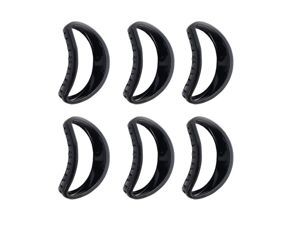 Evogirl Claw Clip Hair Clip All Day Comfort Good Grip Oval Shape Grip Black, Large, for Women/Girls (Pack of 6)
