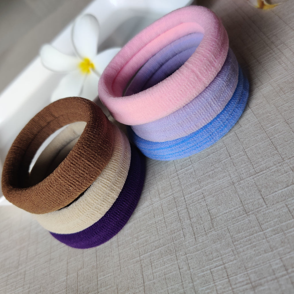 Evogirl Rubberbands Schooltime Elastic Rubberband1.4cm Thick Basic Shade Multicolored